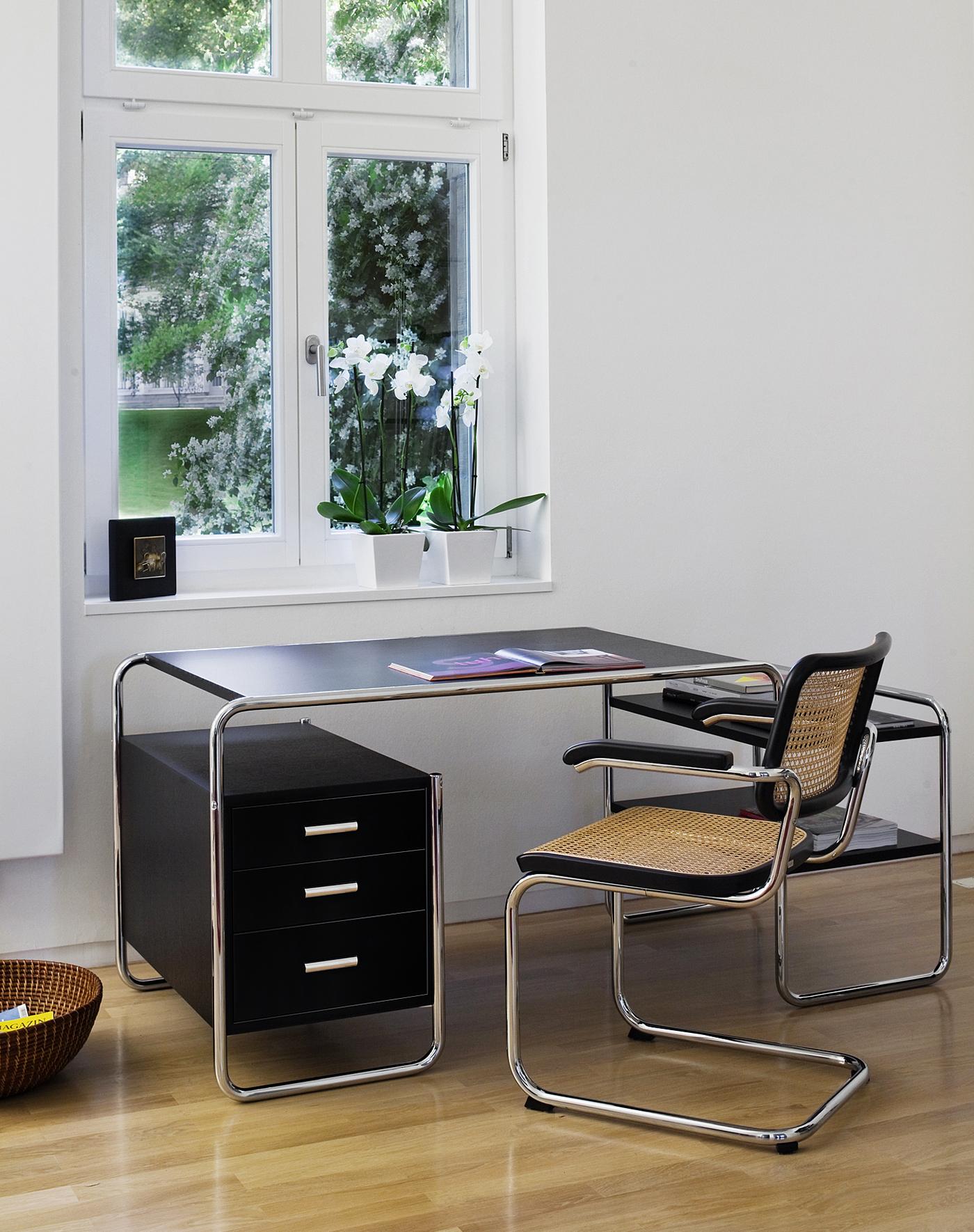 thonet stuhl s 32 freischwinger mit rohrgeflecht designikonen designm bel shop. Black Bedroom Furniture Sets. Home Design Ideas