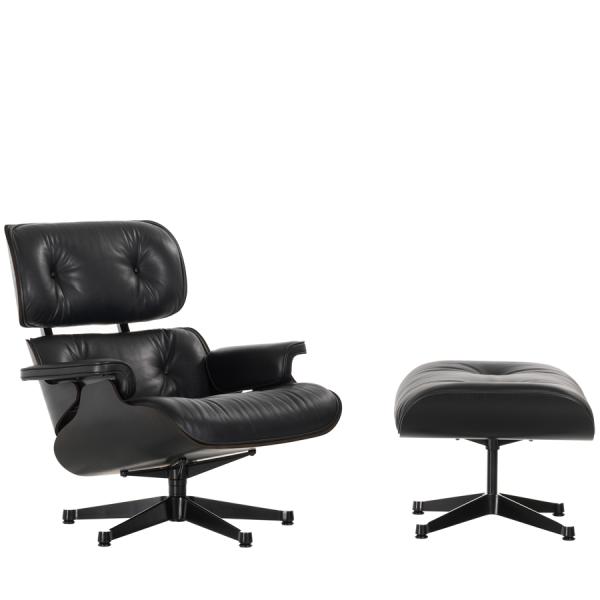 Vitra Sessel Eames Lounge Chair + Ottoman Black Edition