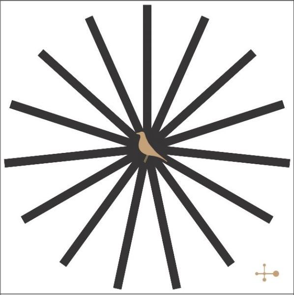 designikonen Streichhölzer Matchbox clock