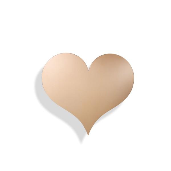 Vitra Dekorationsobjekt Metal Wall Relief Heart Kupfer