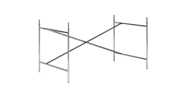 Gestell Eiermann 2 verchromt 135 cm x 66 cm, exzentrisch