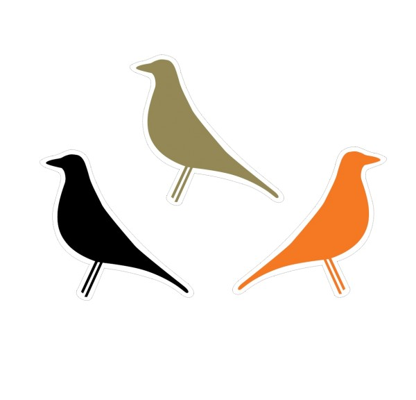 punct.object   designikonen Eames House Bird Sticker 3er Set