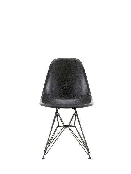 Vitra Stuhl Eames Fiberglass Side Chair DSR Elephant Hide Grey schwarz Quickship
