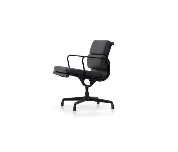 Vitra Eames Sessel Soft Pad Chair EA 208 black edition