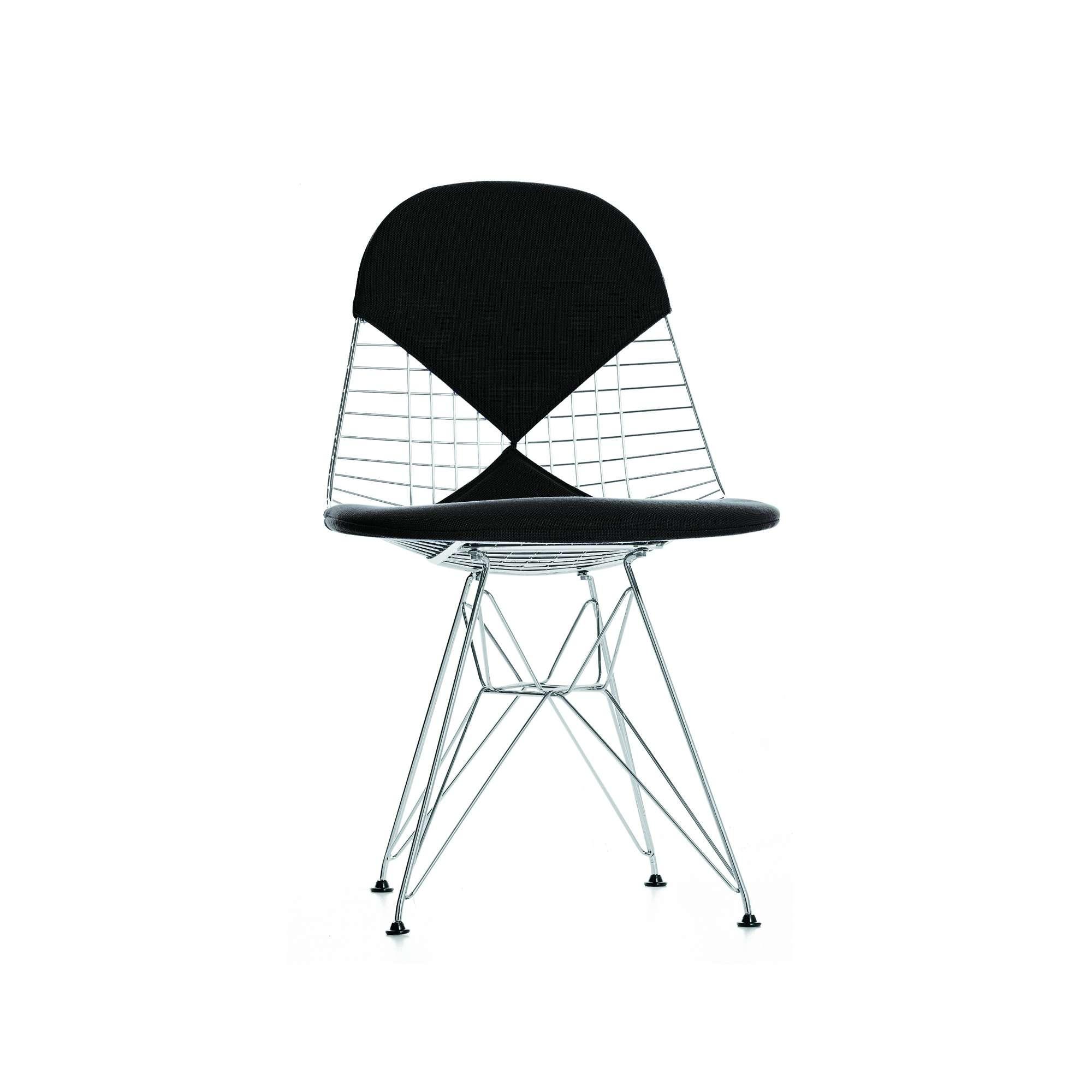 Vitra Stuhl Eames Wire Chair DKR Bikini Stoff oder Leder designikonen