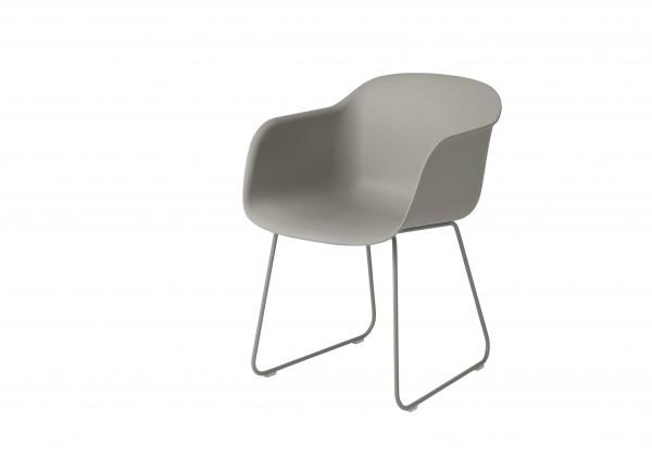 muuto Armlehnenstuhl Fiber Chair sled base