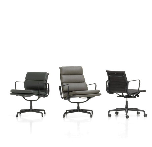 Vitra Eames Loungesessel Soft Pad Chair EA 216 black edition