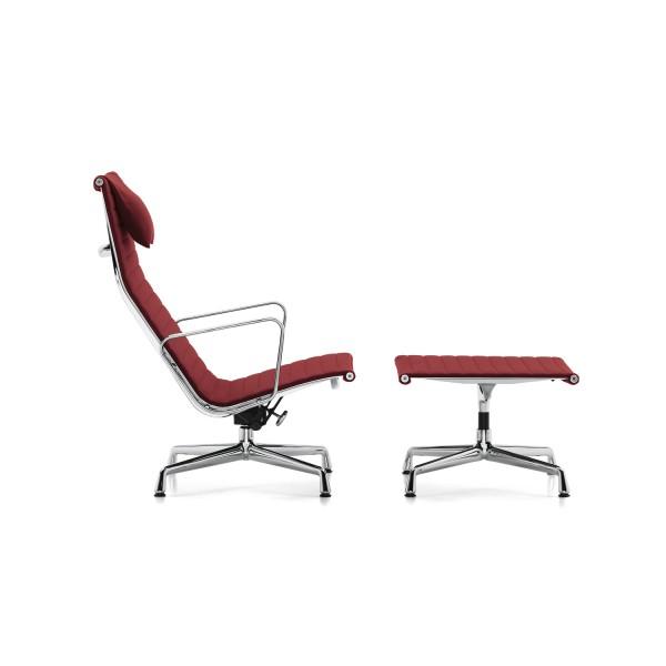 Vitra Sessel Aluminium Chair EA 124 + EA 125 Hocker