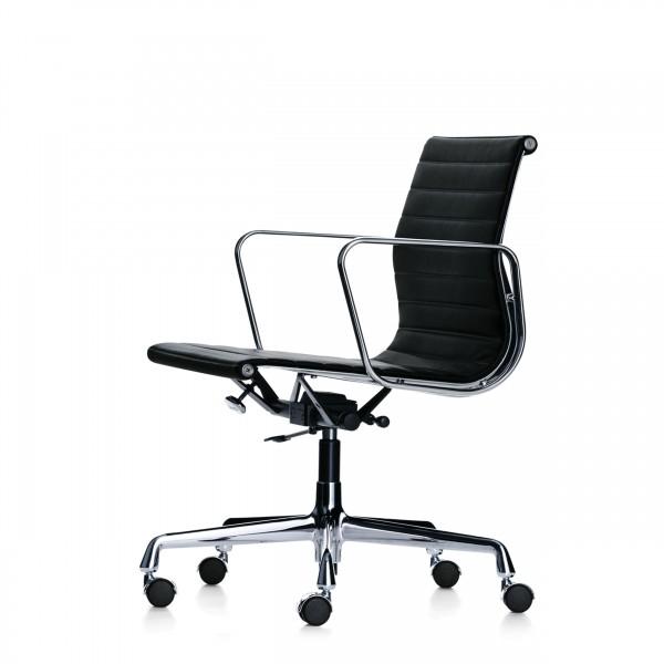 Bürostuhl eames  Vitra Eames Aluminium Chair EA 117 Bürostuhl mittelhoher Rücken ...