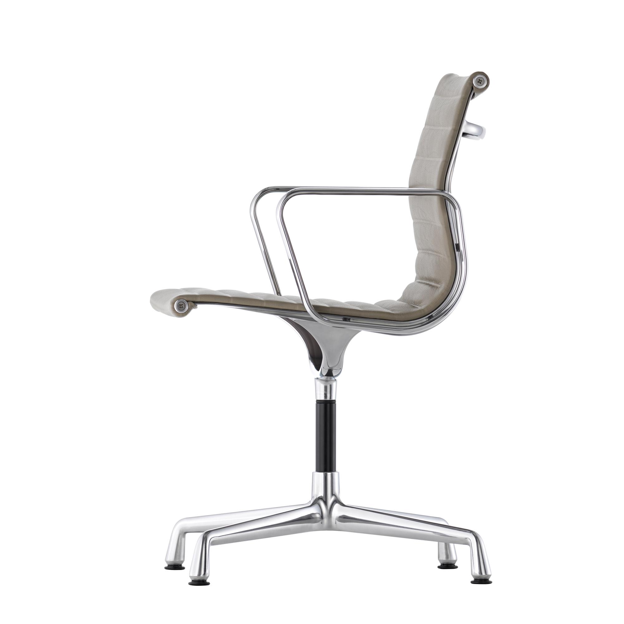 Vitra Stuhl Aluminium Chair Ea 103 In Netzgewebe Stoff Oder Leder Designikonen Designmobel Shop