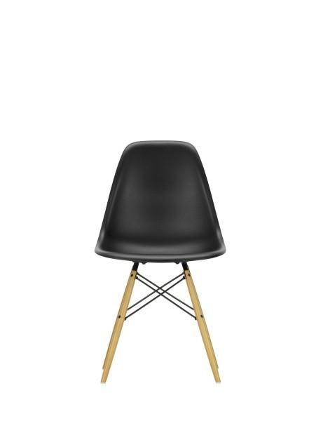 Vitra Stuhl Eames Plastic Sidechair DSW tiefschwarz Ahorn Quickship