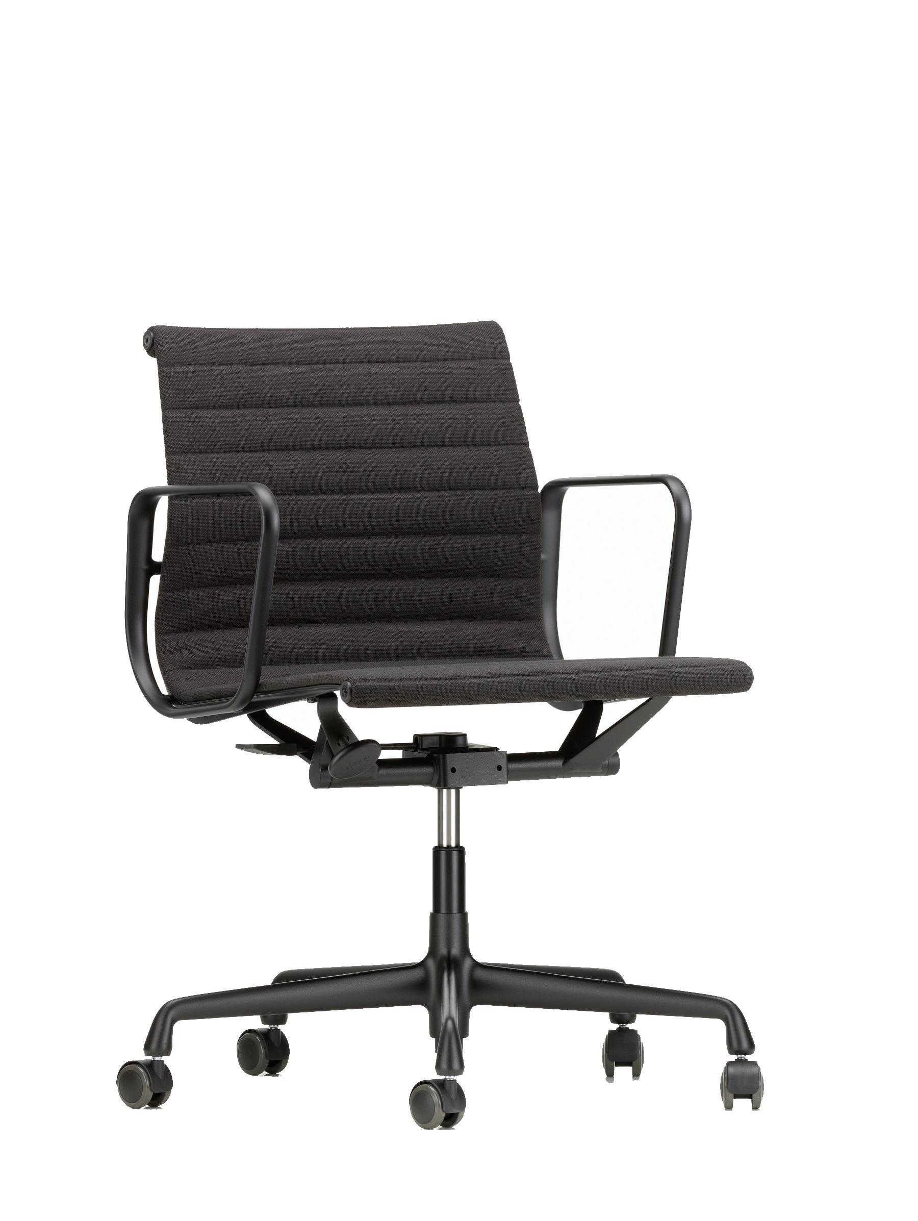 Vitra Eames Aluminium Chair Ea 117 Burostuhl Black Edition Mittelhoher Rucken Designikonen Designmobel Shop