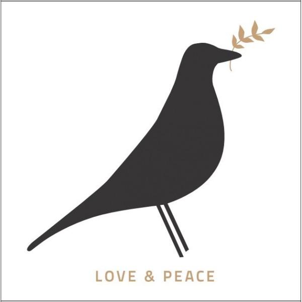 designikonen Streichhölzer Matchbox love and peace