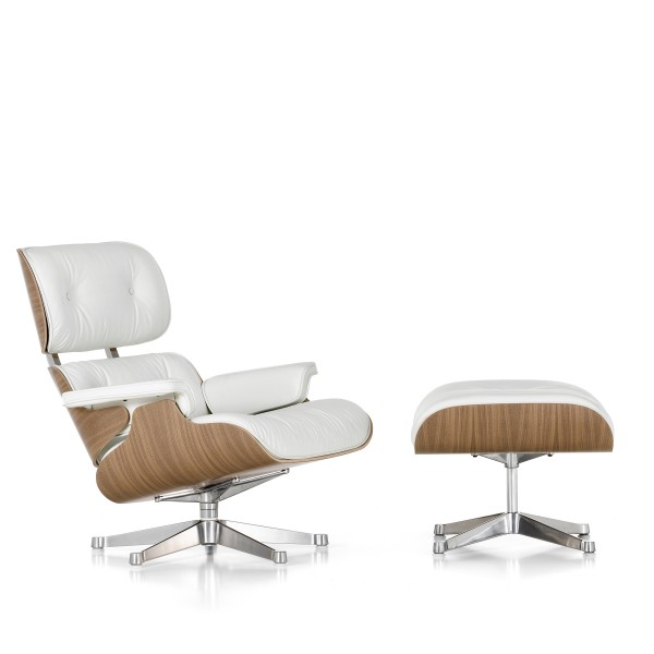 Vitra Sessel Eames Lounge Chair & Ottoman white version