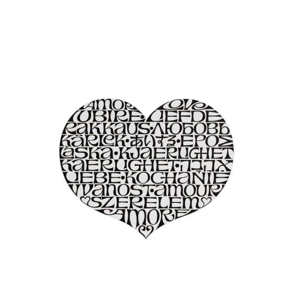Vitra Dekorationsobjekt Metal Wall Relief International Love Heart