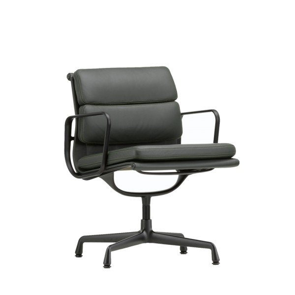 Vitra Eames Sessel Soft Pad Chair EA 208 black edition