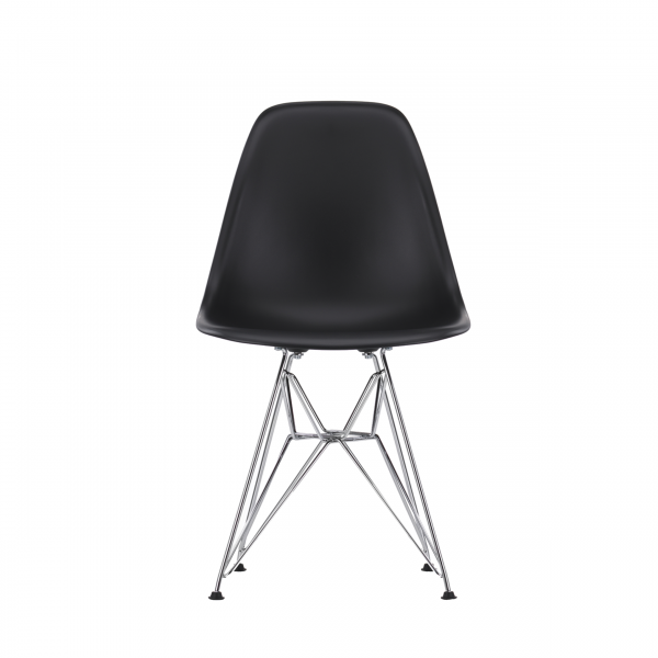 Vitra Stuhl Eames Plastic Chair DSR chrom, black quickship
