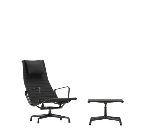 Vitra Sessel Aluminium Chair EA 124 + EA 125 black edition