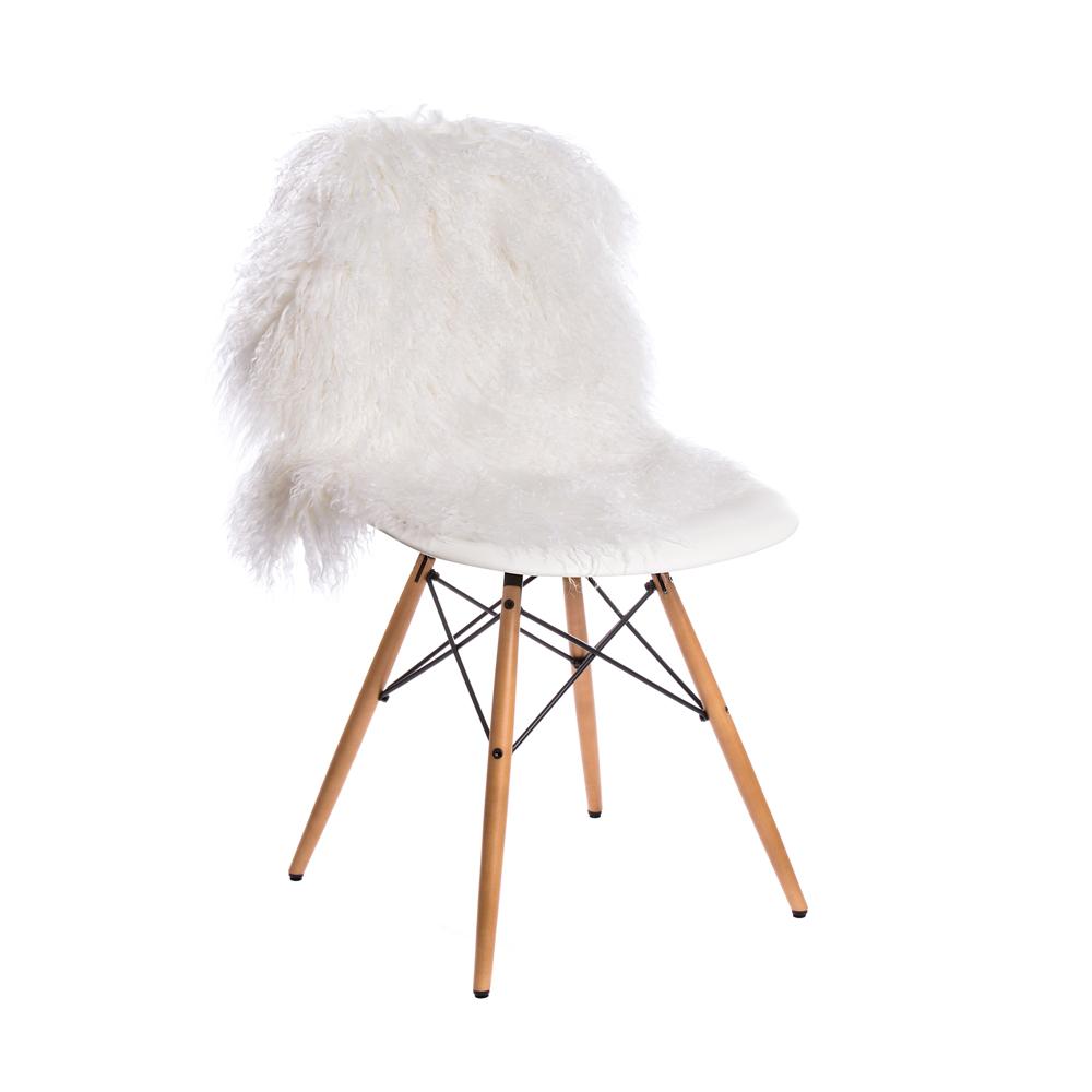 Tibet Schaffell Kraushaar Weiss Hardoy Sessel Und Eames Chair