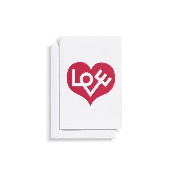 Vitra Grußkarte Greeting Cards, Motiv Love rot