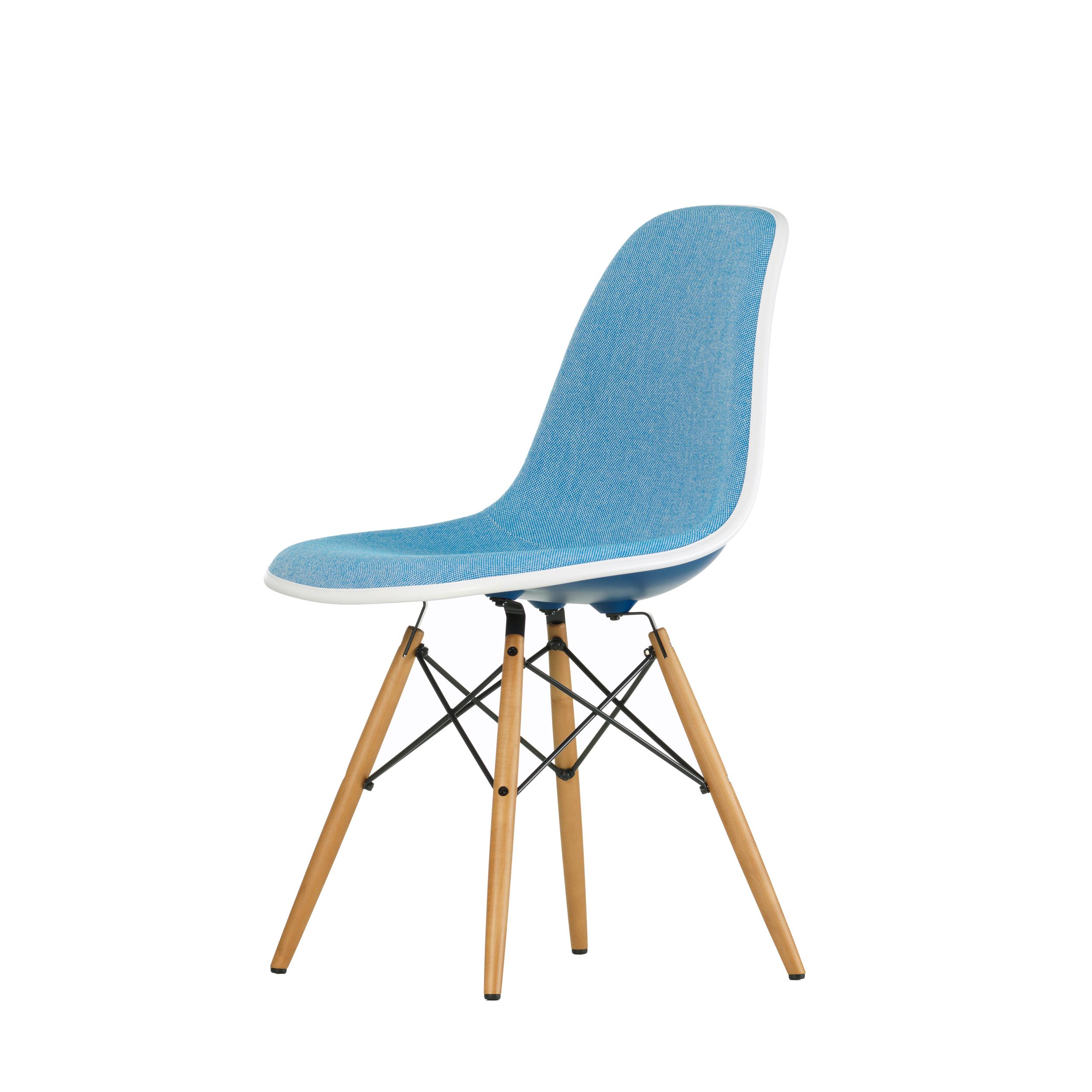 Vitra Stuhl Eames Plastic Sidechair DSW mit Polsterung